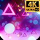 Retro Neon Glow Background 4k - VideoHive Item for Sale