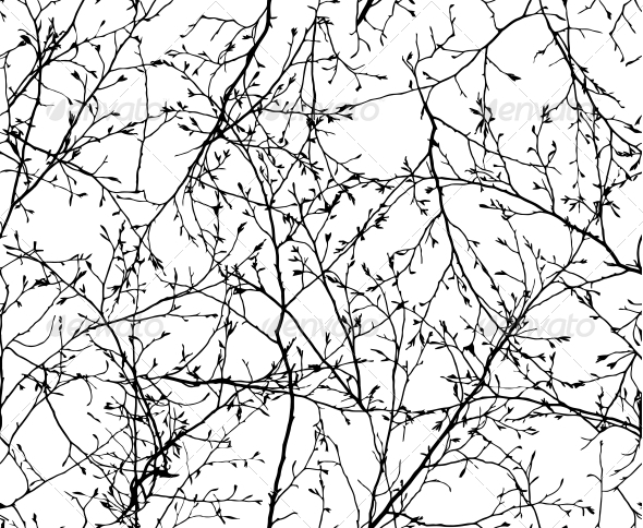 Seamless Vector Texture of the Branches - Patterns Decorative