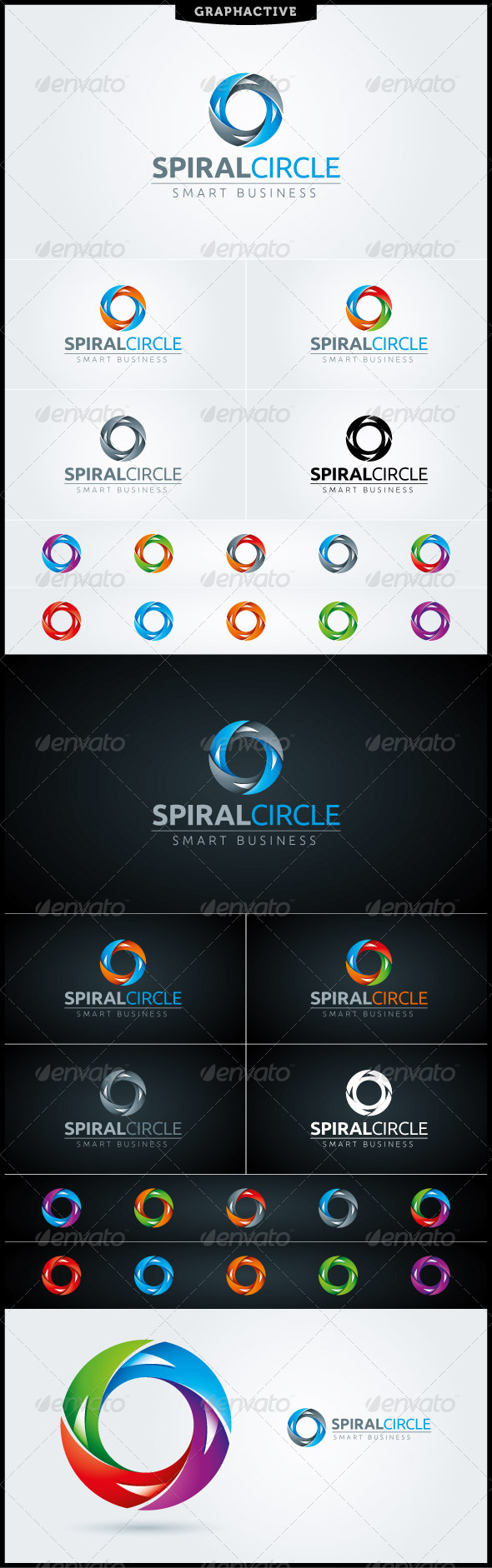 Spiral Circle Letter O Logo Template - Letters Logo Templates