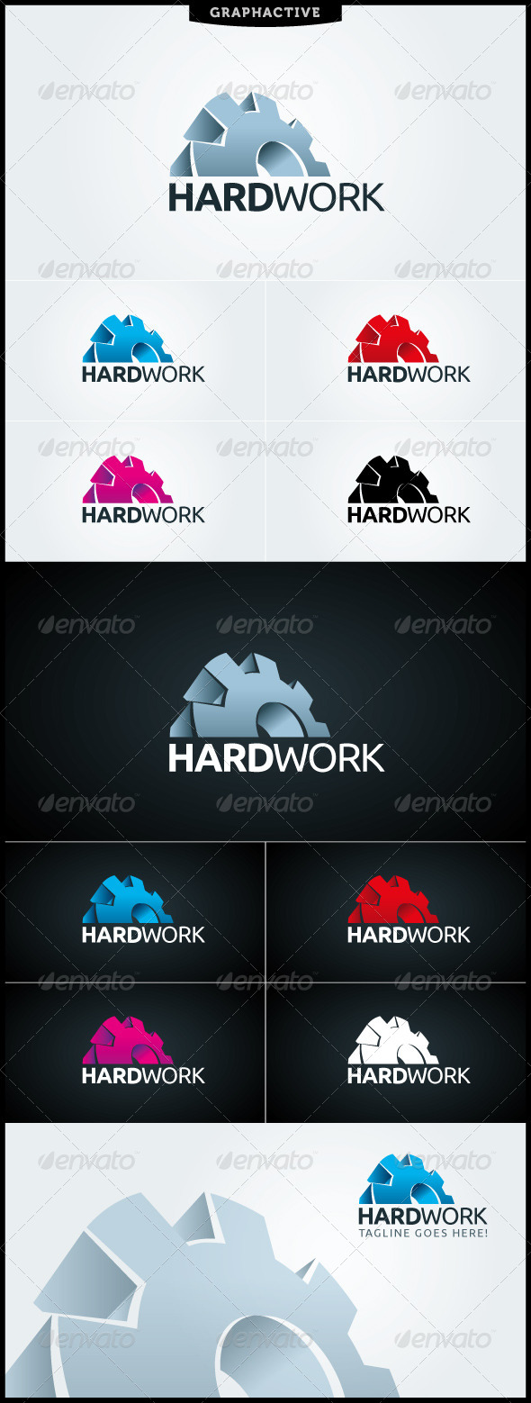 Hard Work Logo Template - Objects Logo Templates