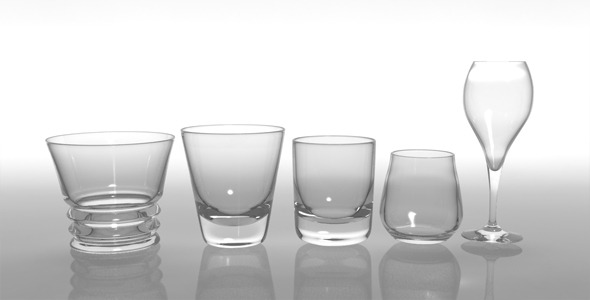 Glass Pack Collection 02 - 3DOcean Item for Sale