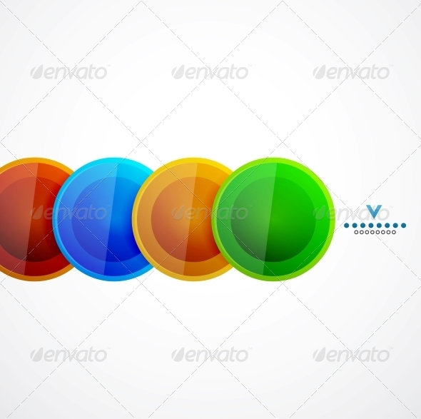 Abstract Geometrical Circles Template - Media Technology