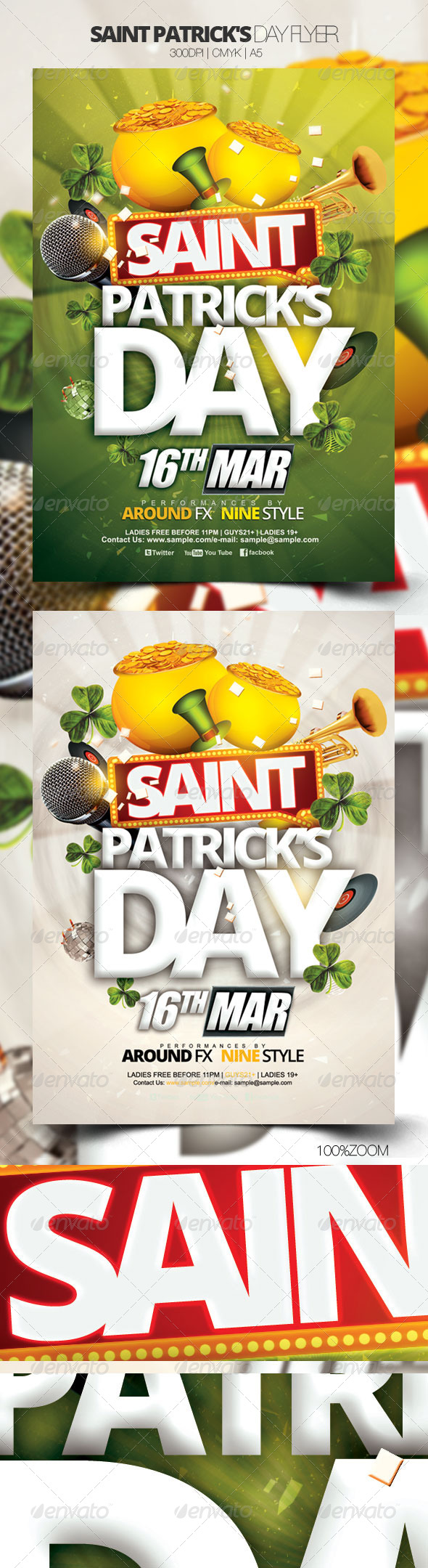 Saint Patrick's Day Flyer - Holidays Events