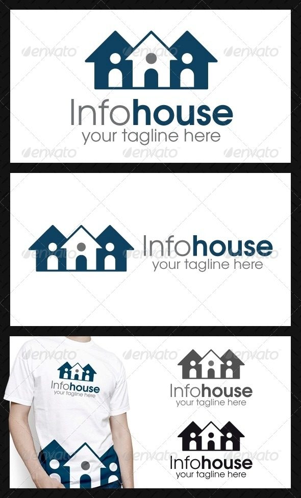 Info House Logo Template - Buildings Logo Templates
