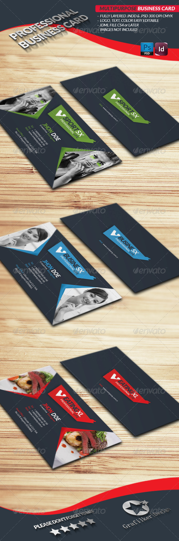 Multipurpose Business Card - Industry Specific Business Cards