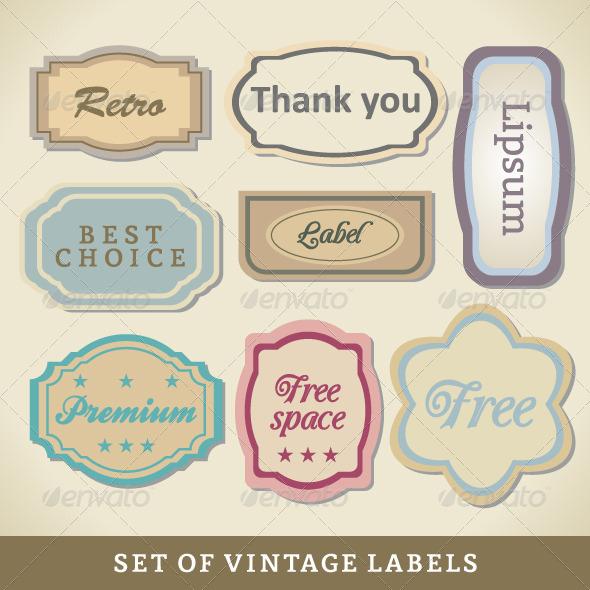 Blank Vintage Design Cards - Miscellaneous Vectors