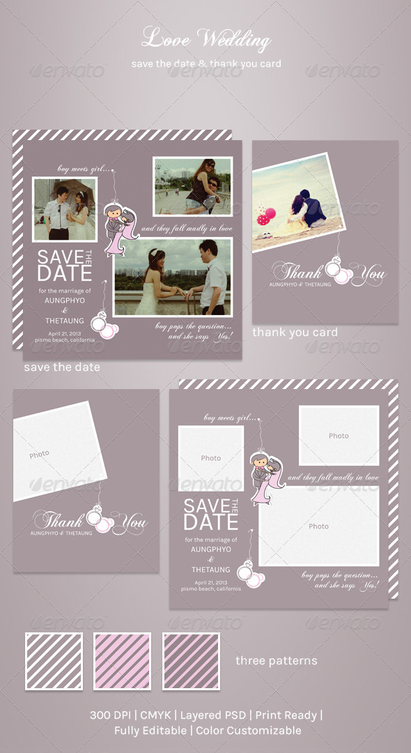 Love Wedding - Cards & Invites Print Templates