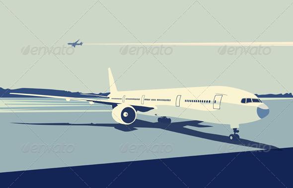 Airport Scene - Conceptual Vectors