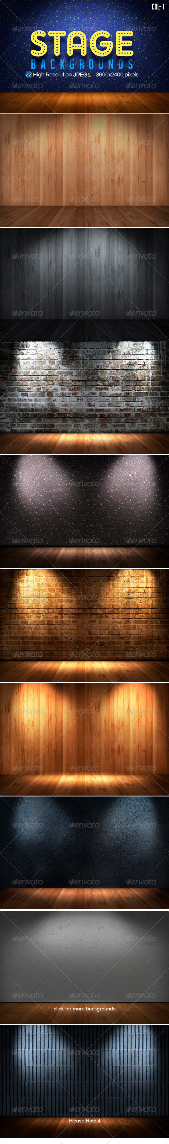 Stage Backgrounds Col1 - 3D Backgrounds
