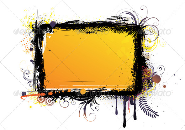 Urban Grunge Frame - Borders Decorative
