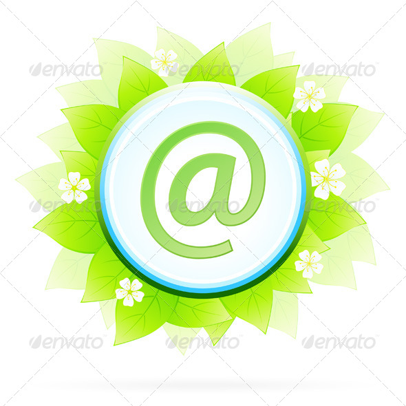 Icon Button Internet and E-mail - Objects Vectors