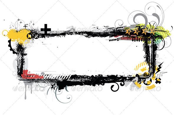 Urban Grunge Frame - Borders Decorative