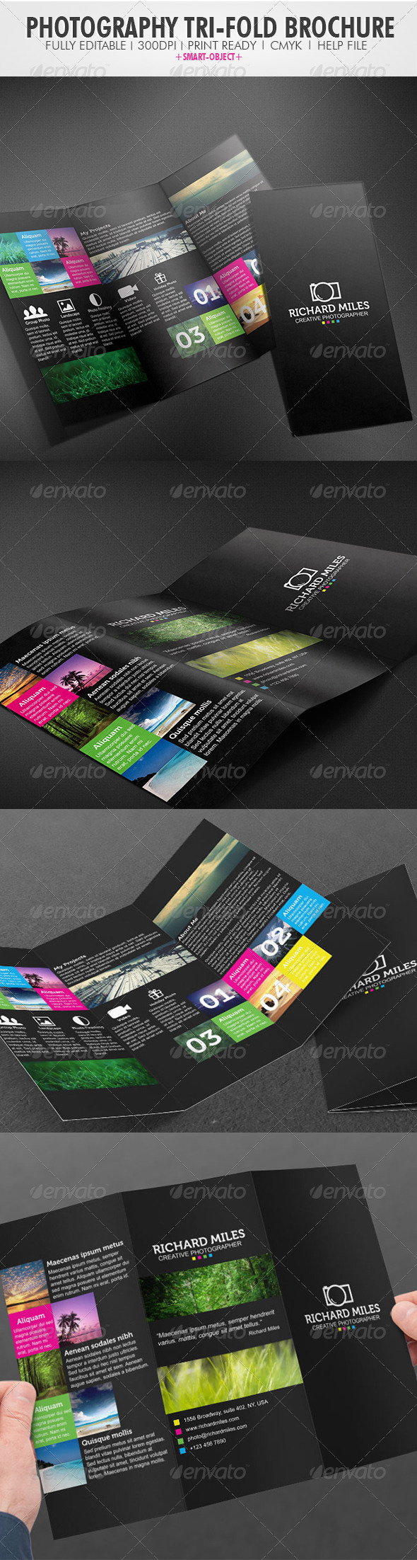 Photography Tri-fold Brochure - Portfolio Brochures