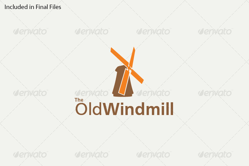 the old windmill logo template by foxxelgraphics