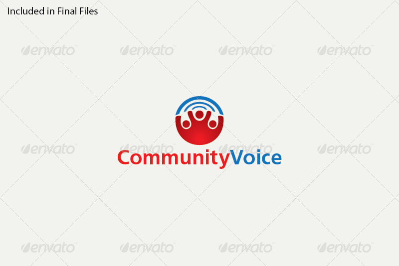 Community Voice Logo Template