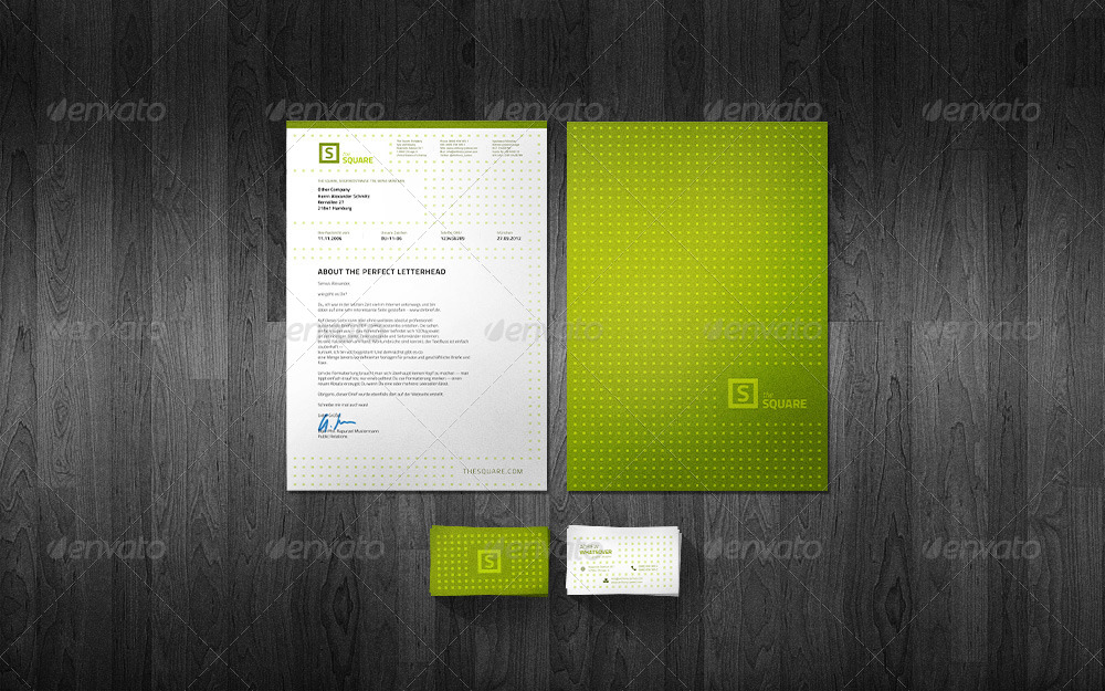 Square business card letterhead design by lung graphicriver letterhead design stationery print templates coolgreyg reheart Images