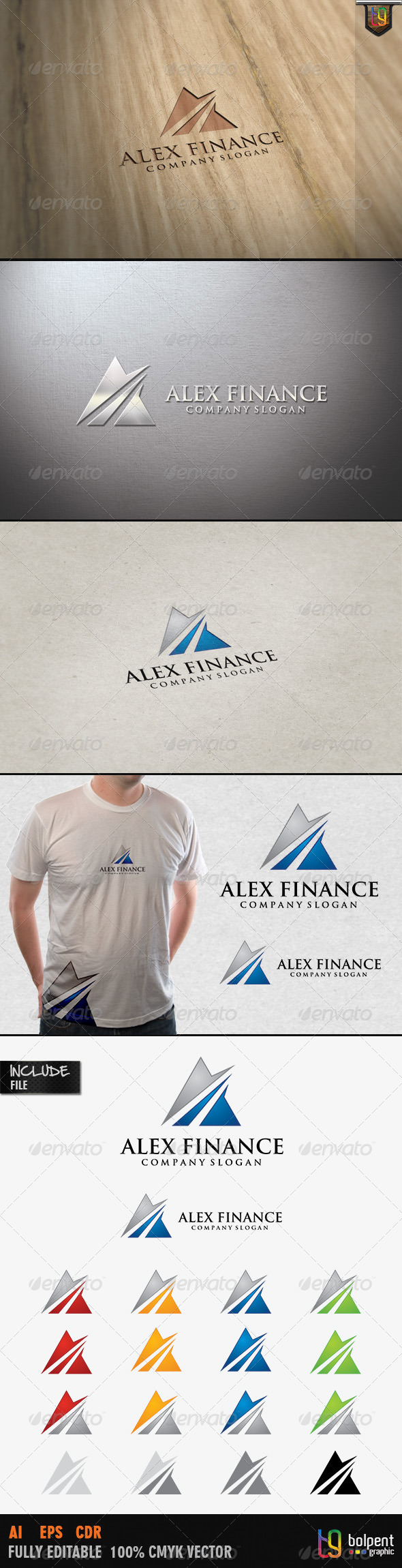 Alex Finance Logo Template - Letters Logo Templates