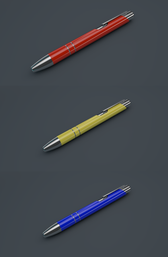 Modern, Stylistic Pen - 3DOcean Item for Sale