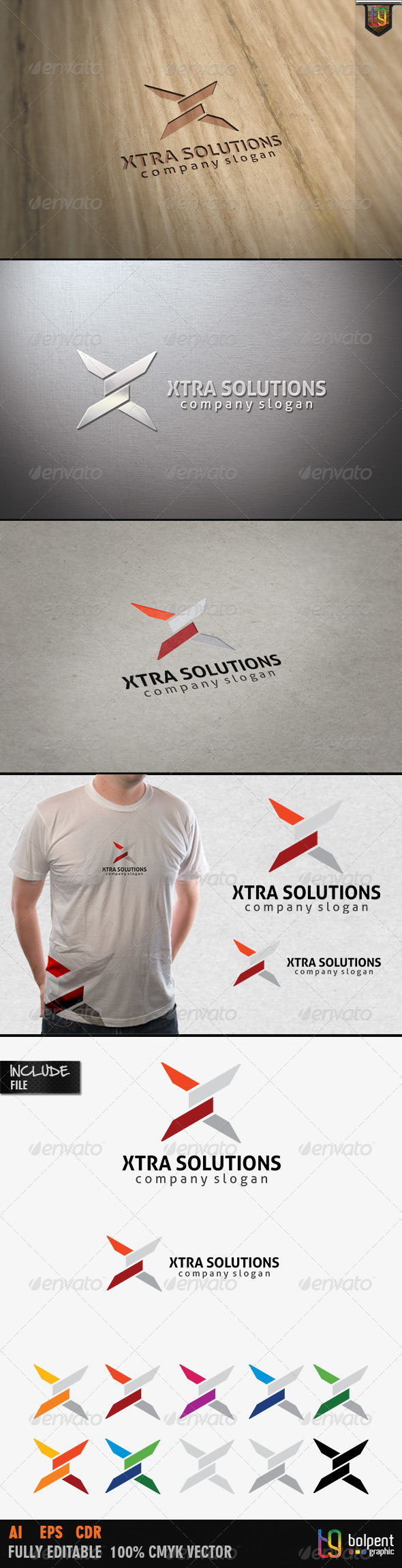 Xtra Solutions Logo Template - Letters Logo Templates