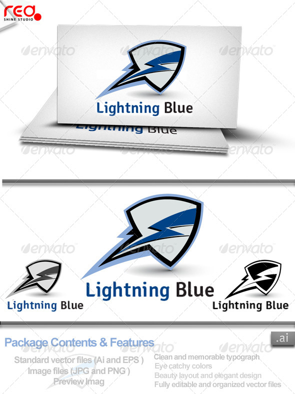 Lighting Blue Logo - Logo Templates