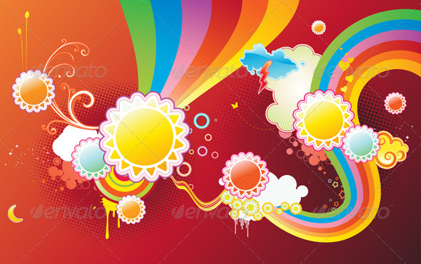 Abstract Party Background - Decorative Vectors