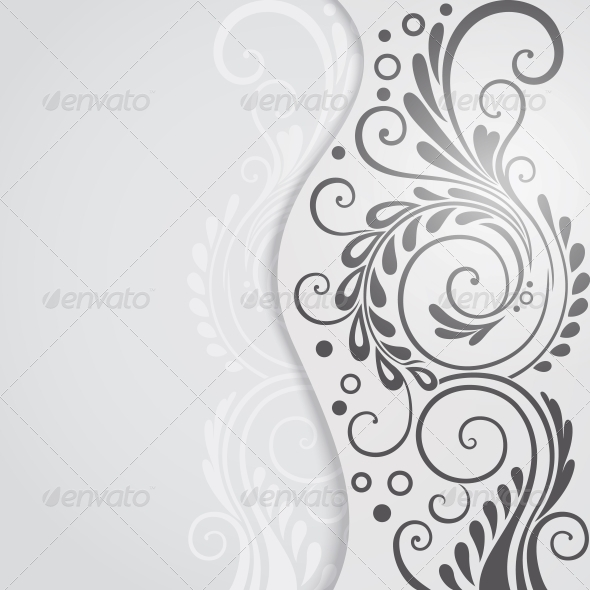 Abstract Floral Background for Design - Backgrounds Decorative