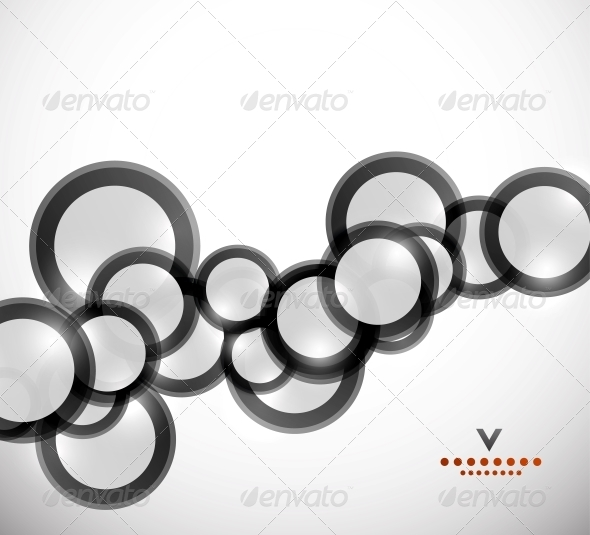 Geometrical Circles Abstract Design Template - Media Technology