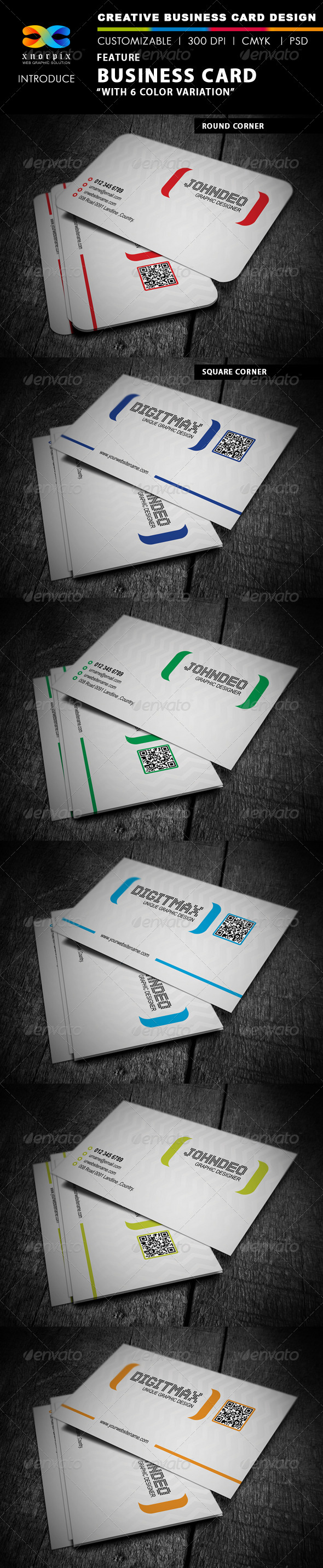 Feature Business Card - Corporate Business Cards