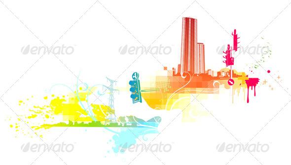 Urban Grunge Background  - Decorative Vectors