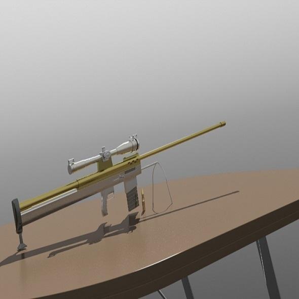 sniper 50bmg - 3DOcean Item for Sale