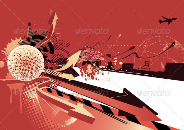 Abstract Party Design  - Conceptual Vectors