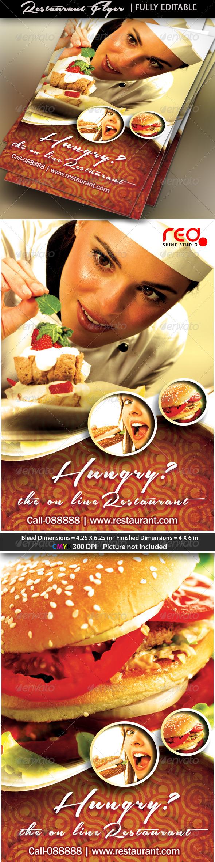 Restaurant Business / Flyer Template - Restaurant Flyers