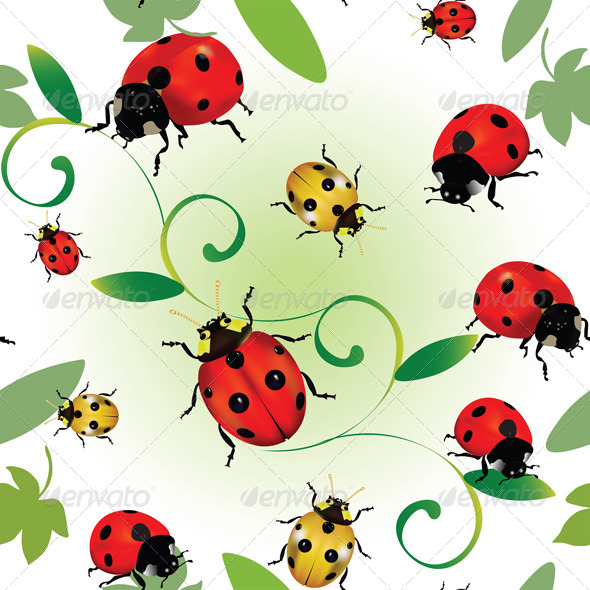 Seamless Ladybugs - Patterns Decorative
