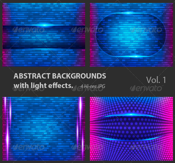 Abstract Backgrounds with Light Effects. - Tech / Futuristic Backgrounds