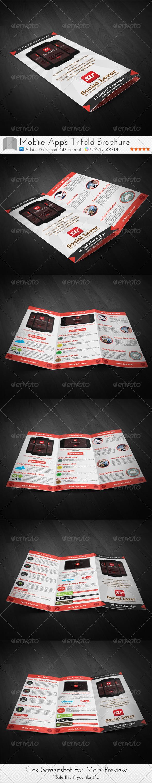 Social Media Cloud Apps Trifold Brochure - Brochures Print Templates