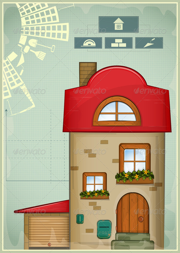 Infographics Country Construction - Buildings Objects