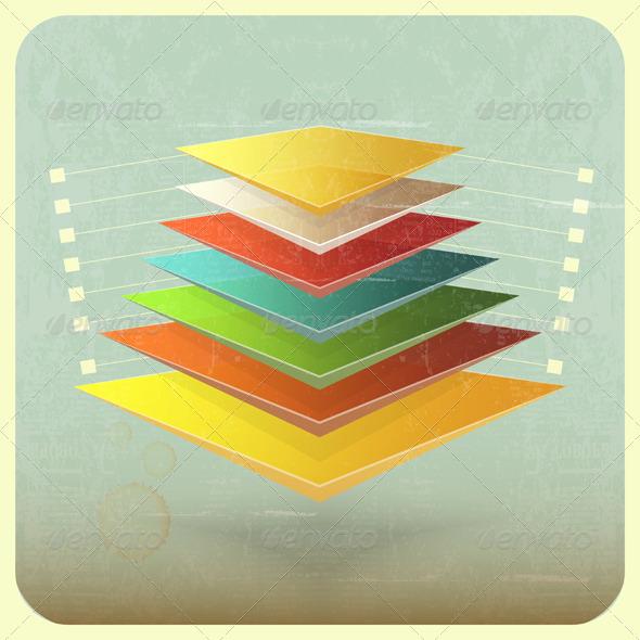 Infographics in Retro Style - Conceptual Vectors