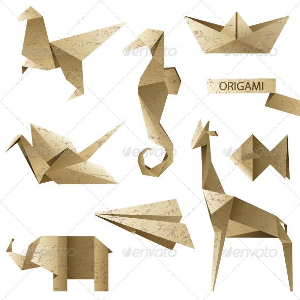 Origami Icons - Retro Technology