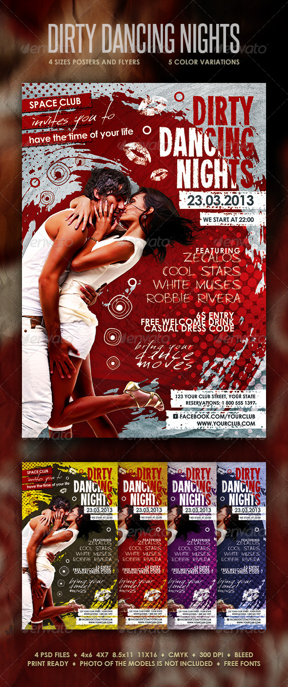 Dirty Dancing Nights Posters and Flyers - Clubs & Parties Events