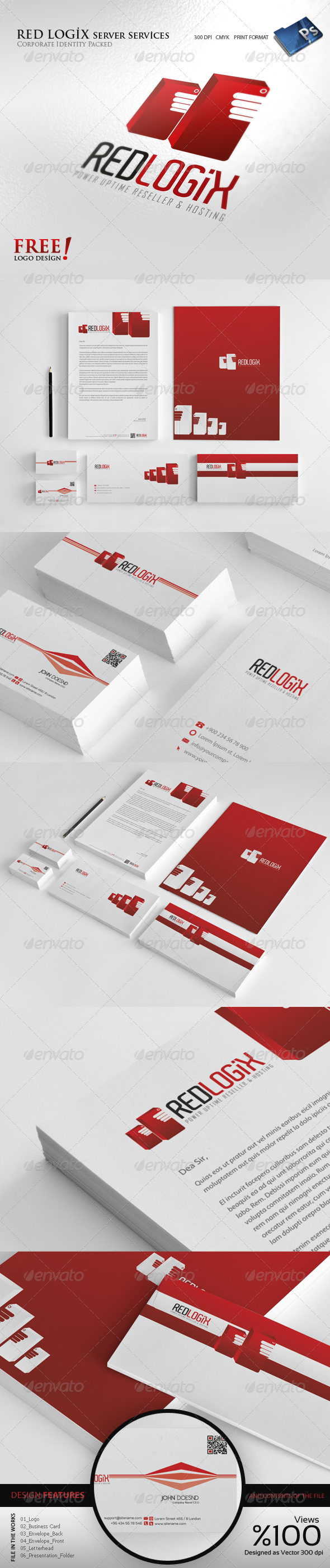 RedLogix Hosting - Corporate identity - Stationery Print Templates