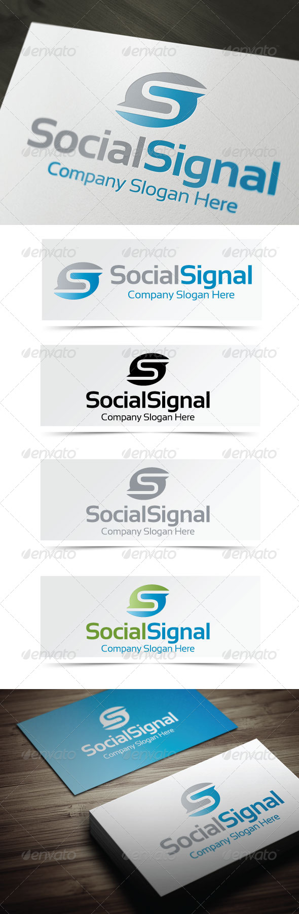 Social Signal - Letters Logo Templates