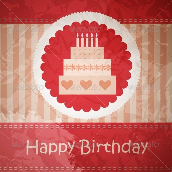 Birthday Card with Copy Space - Miscellaneous Vectors