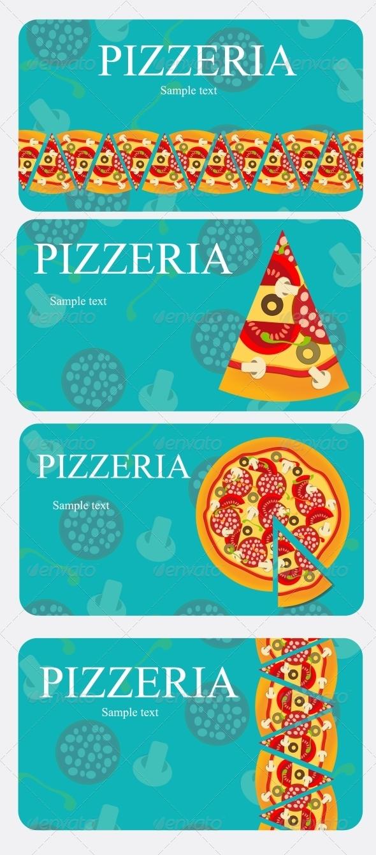 Pizza Menu Template - Food Objects
