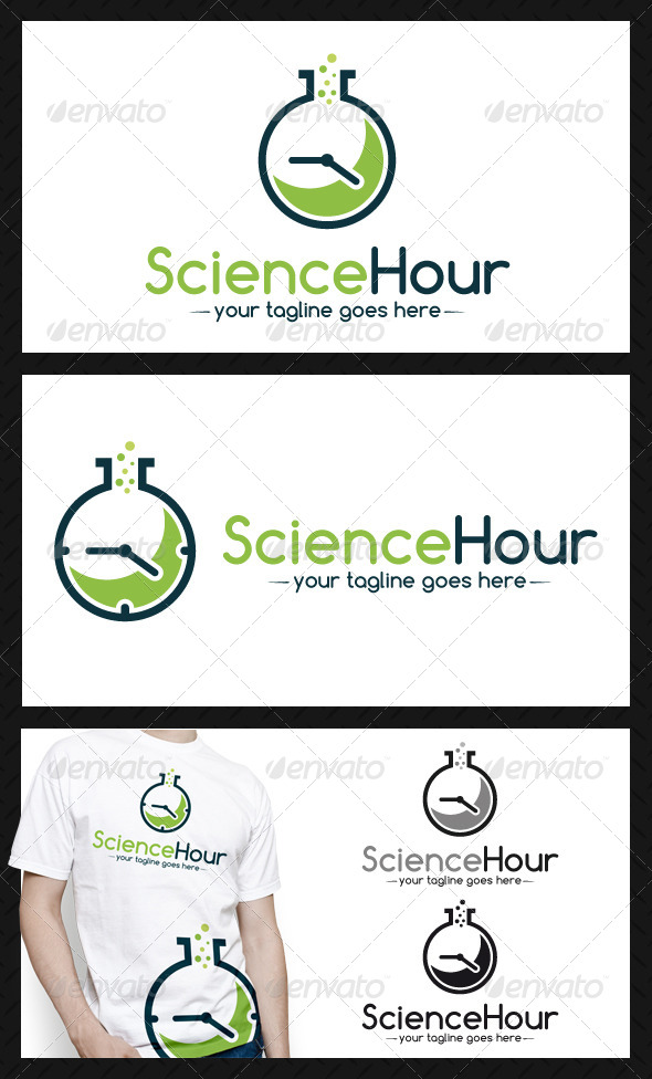 Science Time Logo Template - Objects Logo Templates