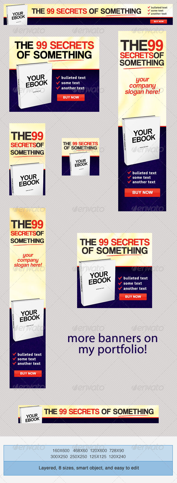 Buy Ebook PSD Banner Ad Templates - Banners & Ads Web Elements