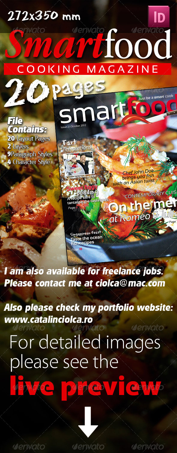 Smart Food Cooking Magazine - Magazines Print Templates