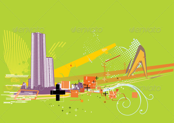 Urban Background  - Conceptual Vectors