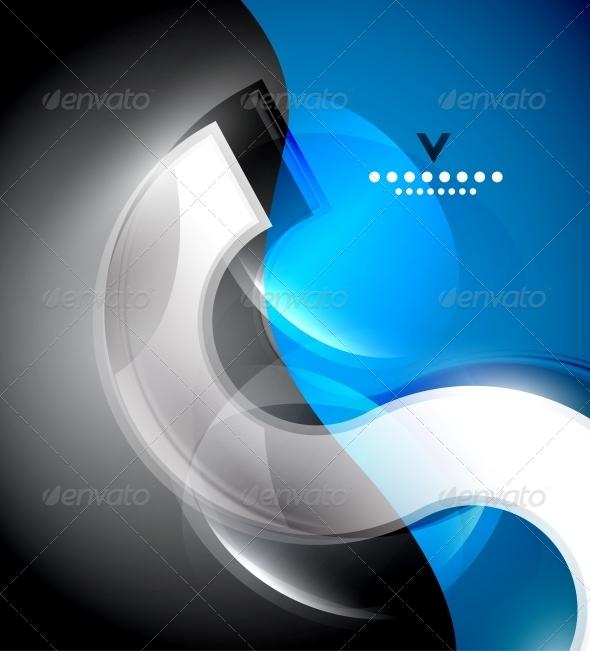 Digital Wave Design Template - Backgrounds Decorative