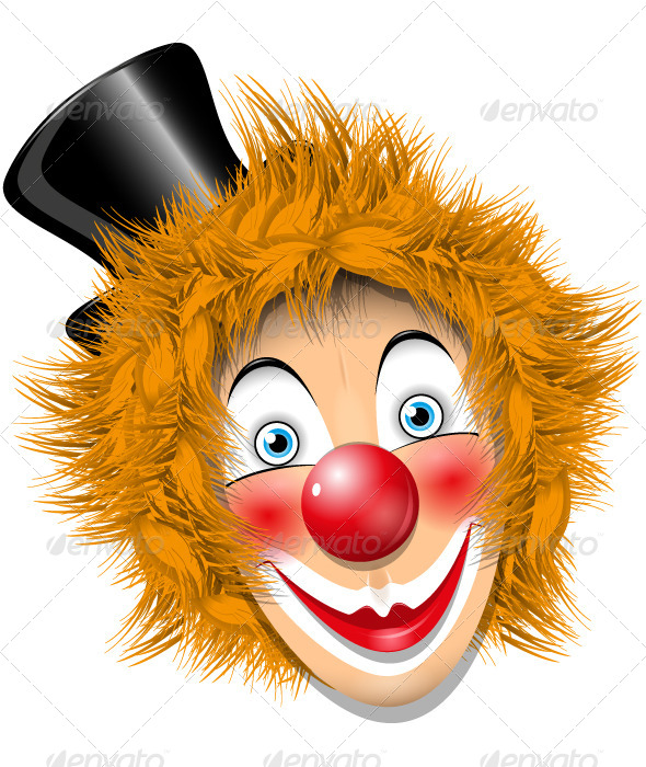 Redheaded Clown - People Characters