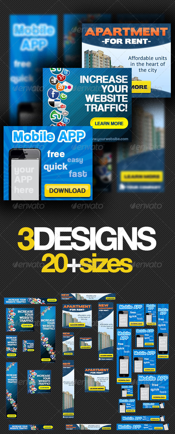 Multipurpose Banner Ads Bundle 2.0 - Banners & Ads Web Elements